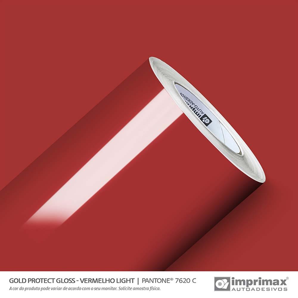 Vinil Auto Adesivo Protect Gloss Vermelho Light 1,40x25m