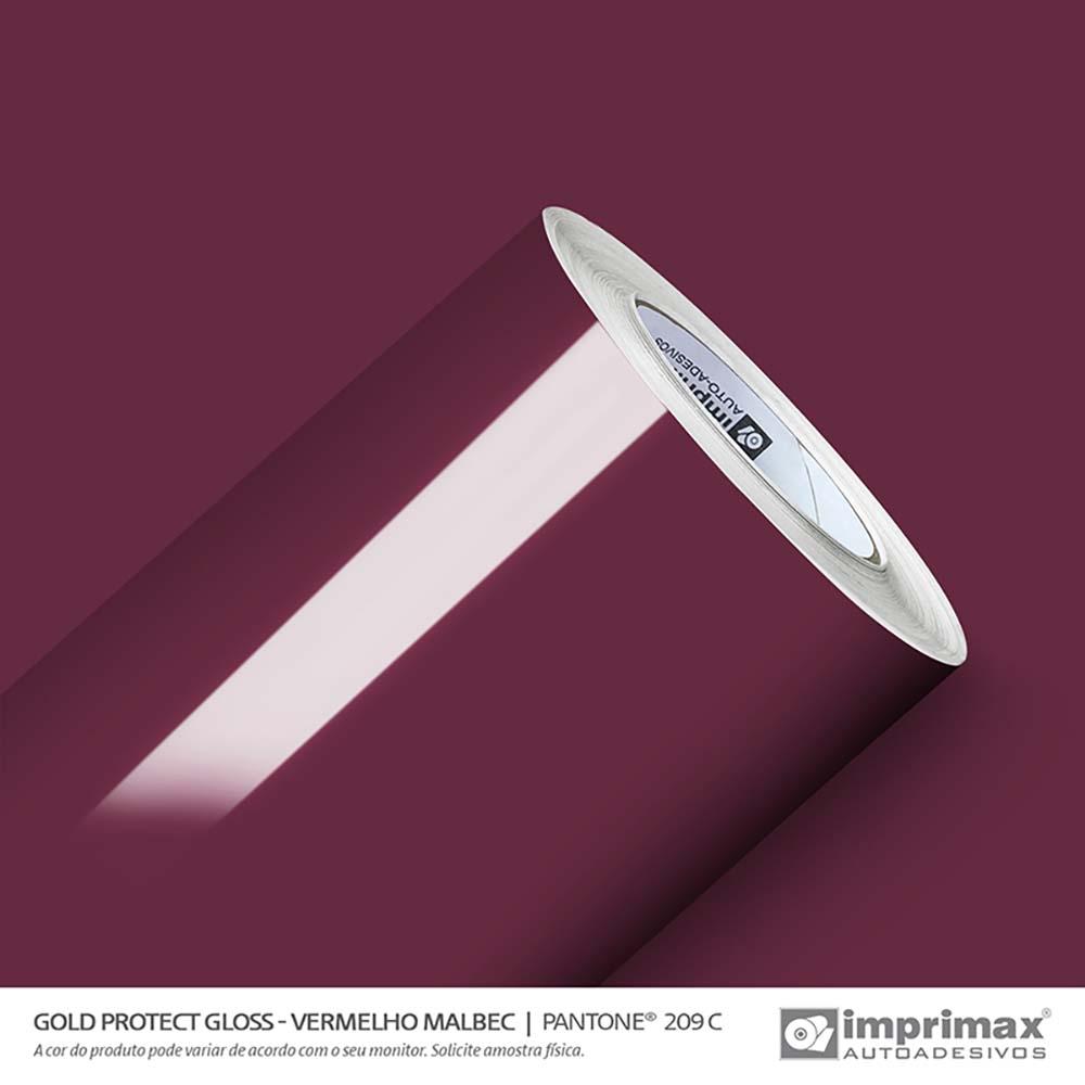 Vinil Auto Adesivo Protect Gloss Vermelho Malbec 1,40x25m