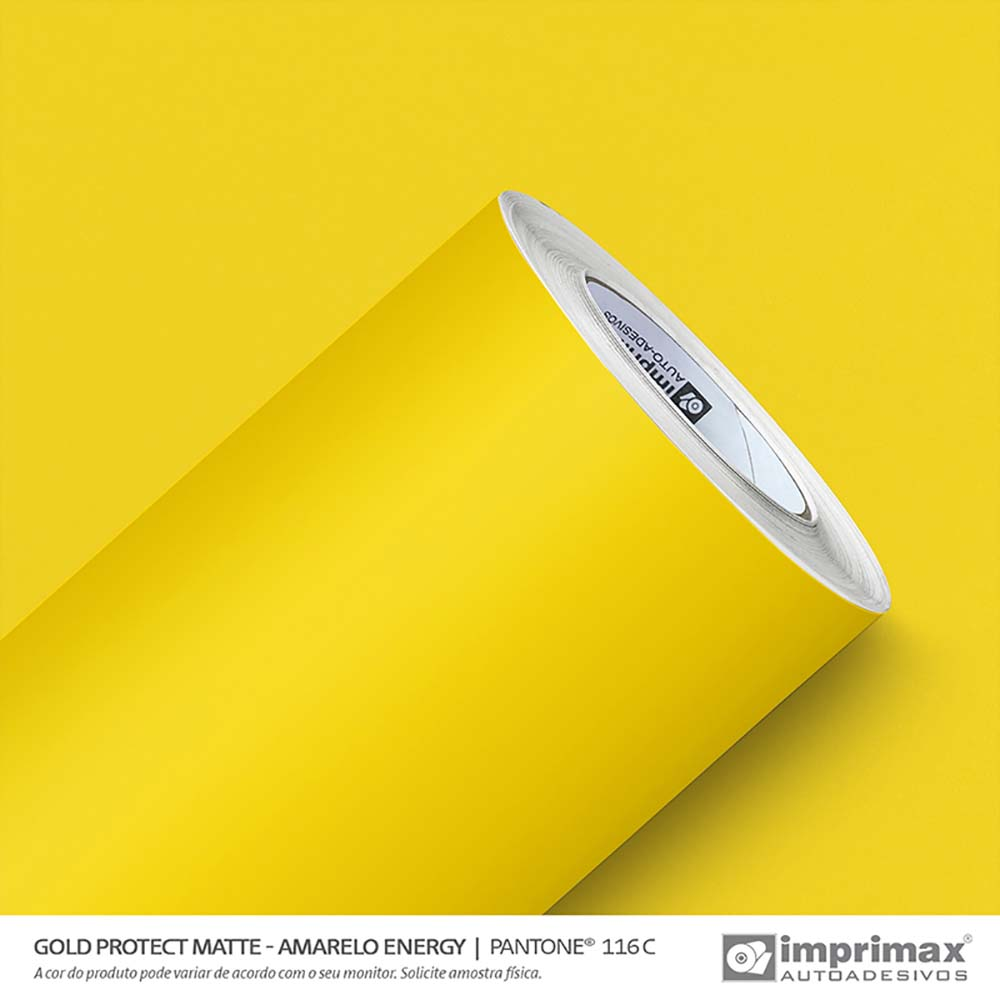Vinil Auto Adesivo Protect Matte Amarelo Energy 1,40x25m