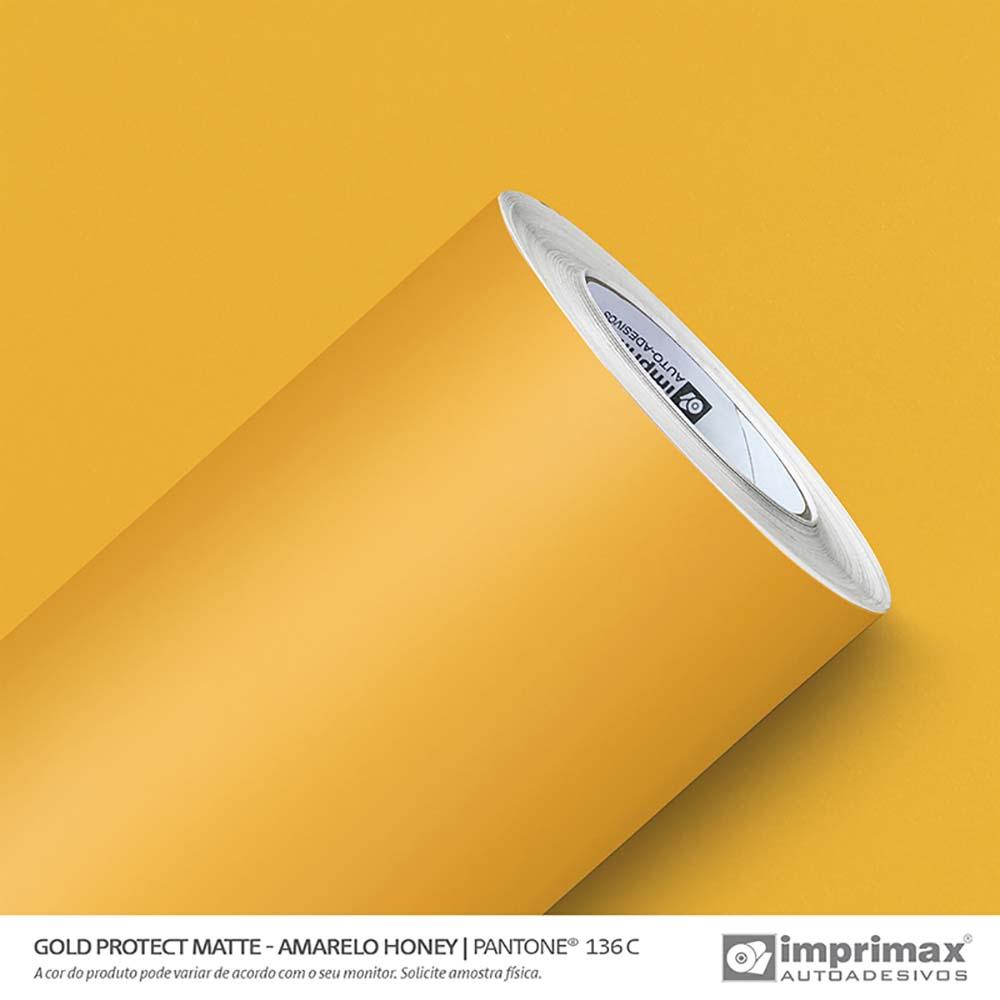 Vinil Auto Adesivo Protect Matte Amarelo Honey 1,40x25m