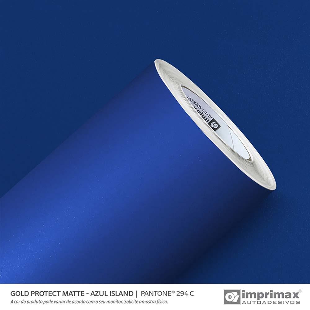 Vinil Auto Adesivo Protect Matte Azul Island 1,40x25m