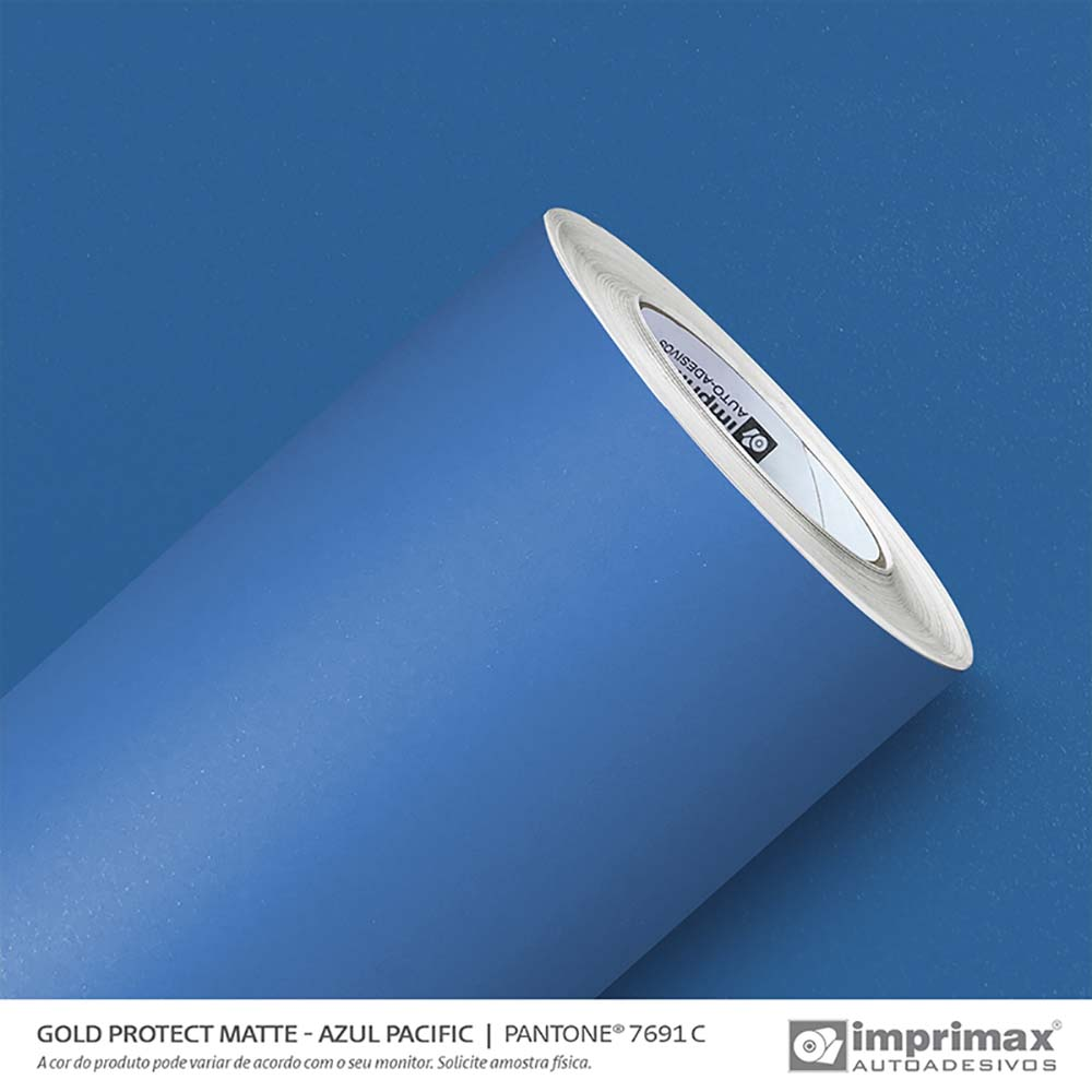 Vinil Auto Adesivo Protect Matte Azul Pacific 1,40x25m