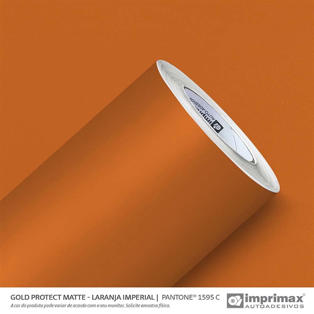 Vinil Auto Adesivo Protect Matte Laranja Imperial 1,40x25m
