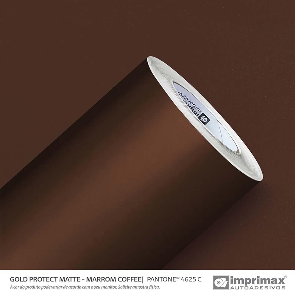 Vinil Auto Adesivo Protect Matte Marrom Coffee 1,40x25m