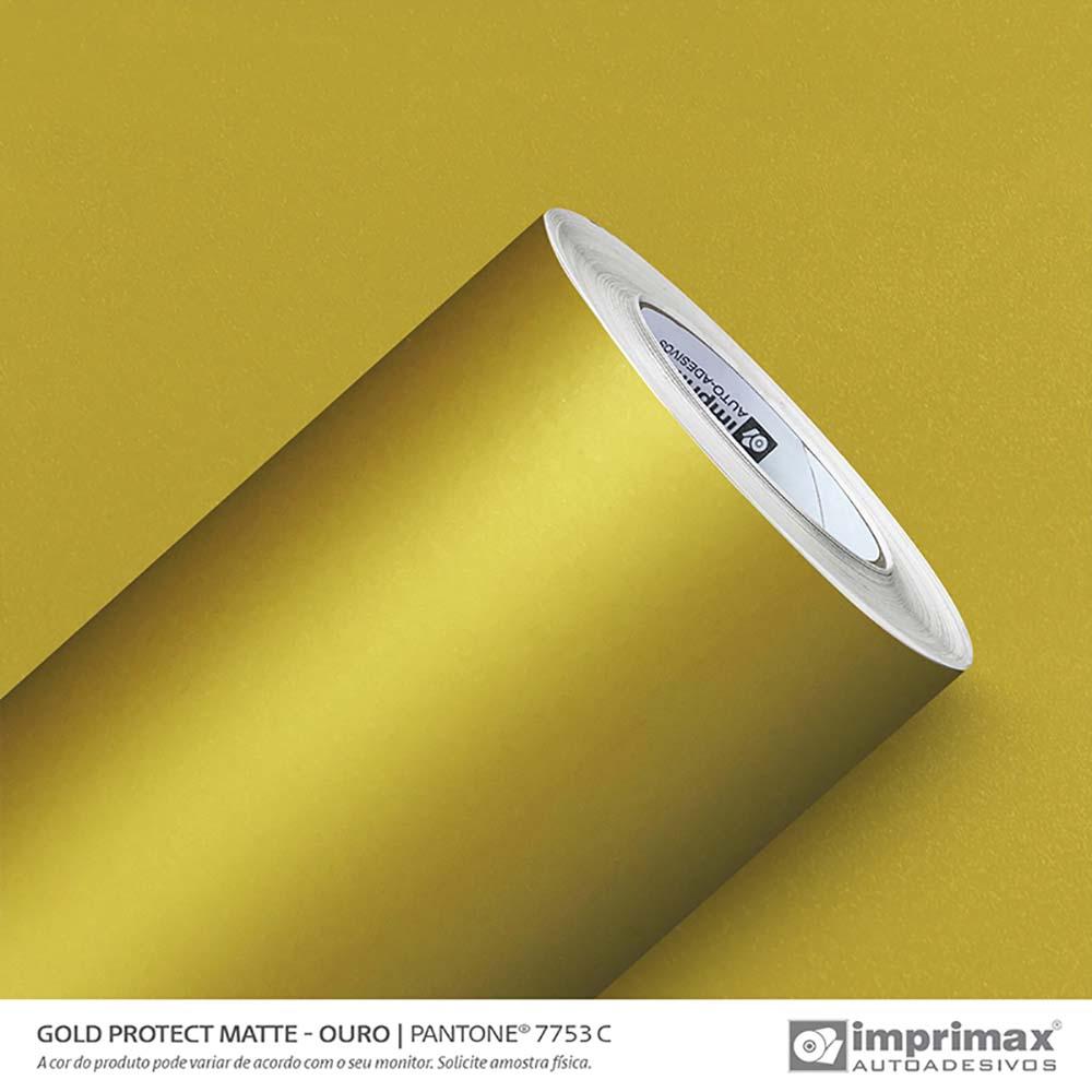 Vinil Auto Adesivo Protect Matte Ouro 1,40x25m