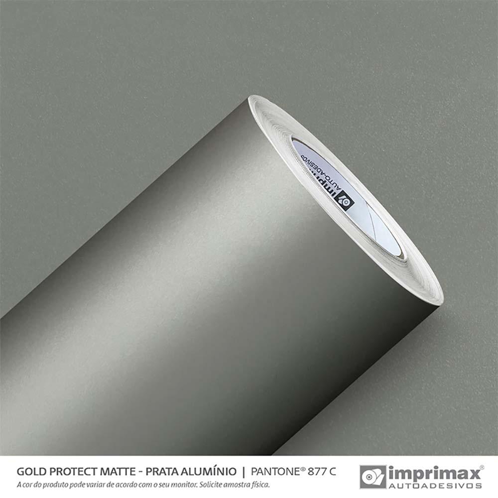 Vinil Auto Adesivo Protect Matte Prata Alumino 1,40x25m
