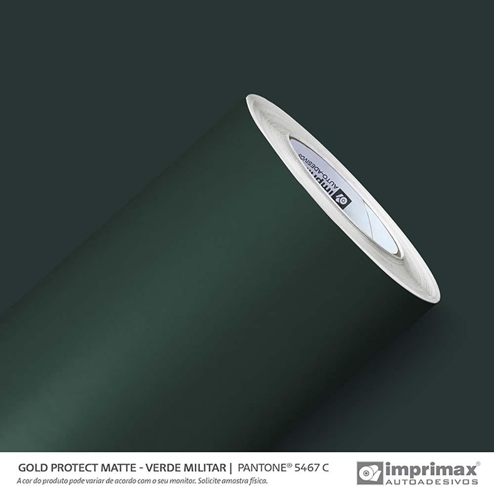 Vinil Auto Adesivo Protect Matte Verde Militar 1,40x25m