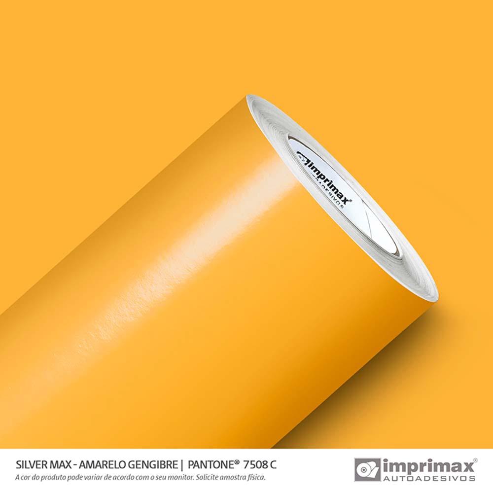Vinil Auto Adesivo Silver Max Amarelo Gengibre Brilho 1,22x50m