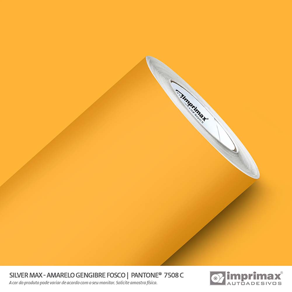 Vinil Auto Adesivo Silver Max Amarelo Gengibre Fosco 1,22x50m