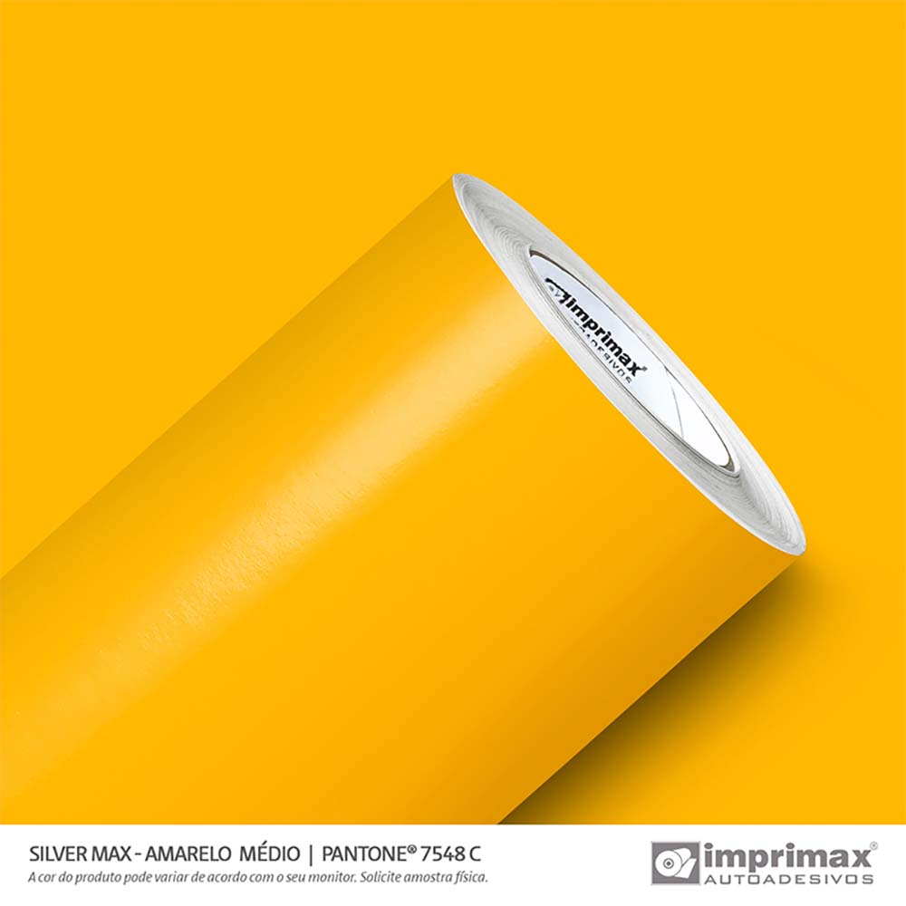Vinil Auto Adesivo Silver Max Amarelo Médio Brilho 1,22x50m