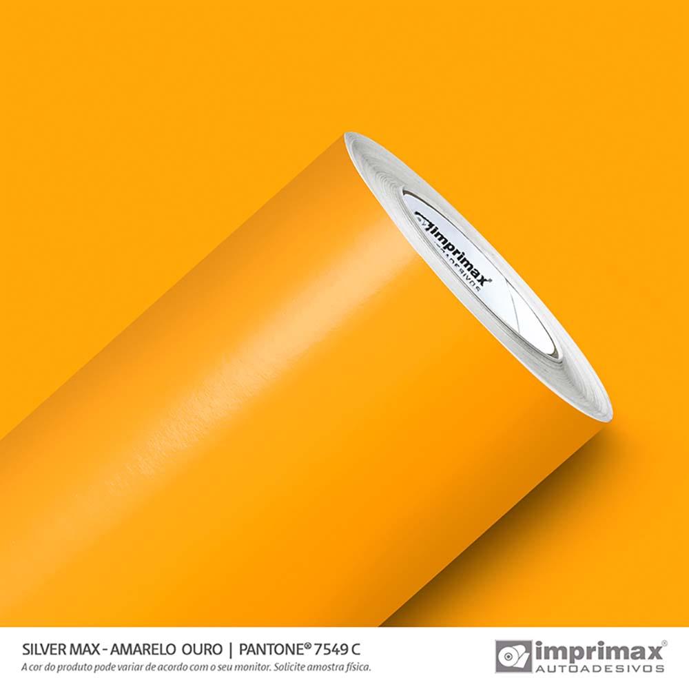 Vinil Auto Adesivo Silver Max Amarelo Ouro Brilho 1,22x50m