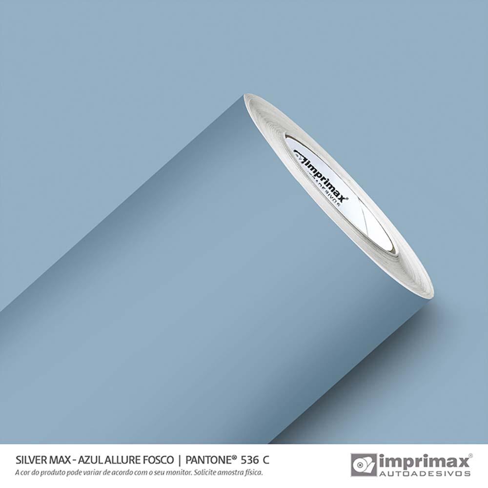 Vinil Auto Adesivo Silver Max Azul Allure Fosco 1,22x50m