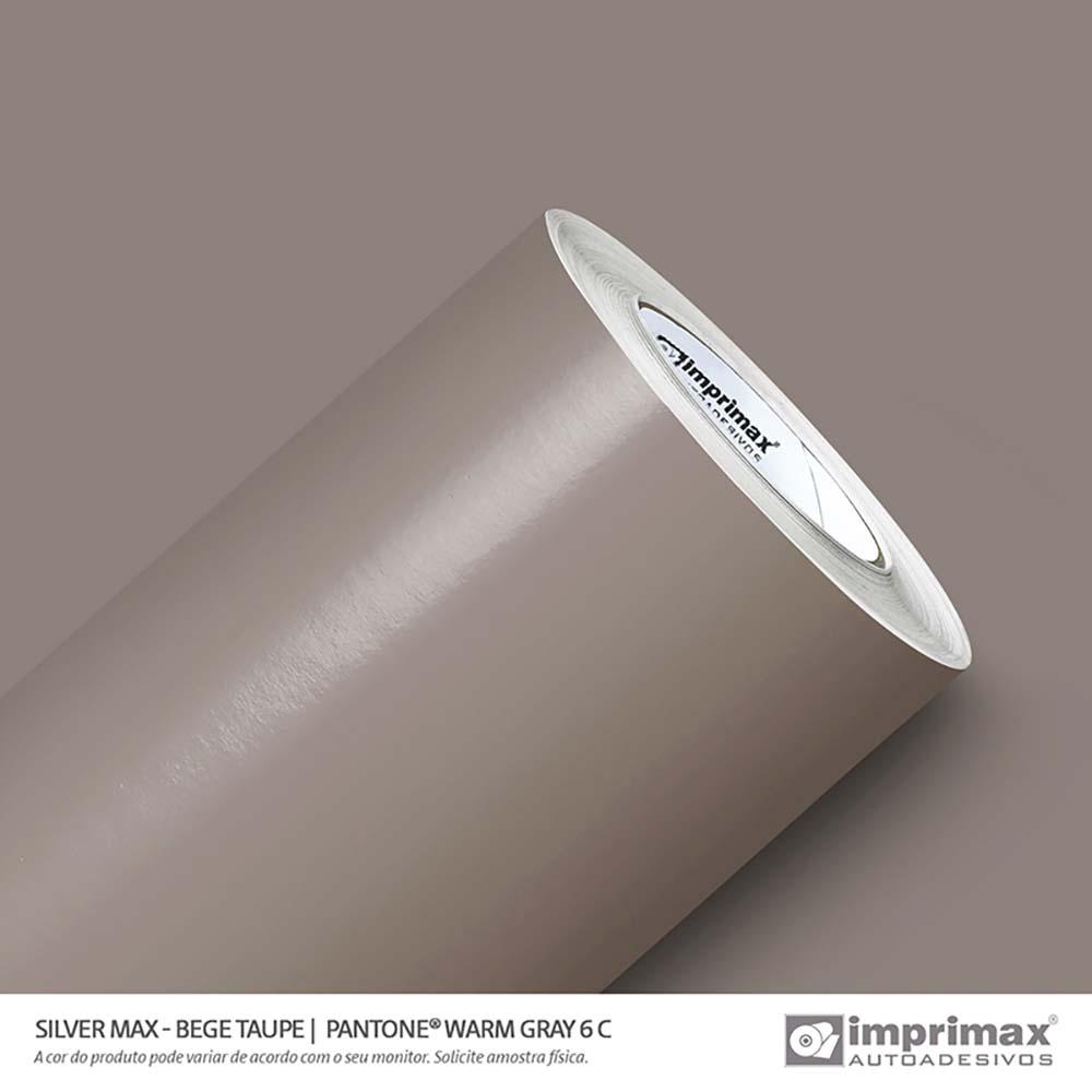 Vinil Auto Adesivo Silver Max Bege Taupe Brilho 1,22x50m
