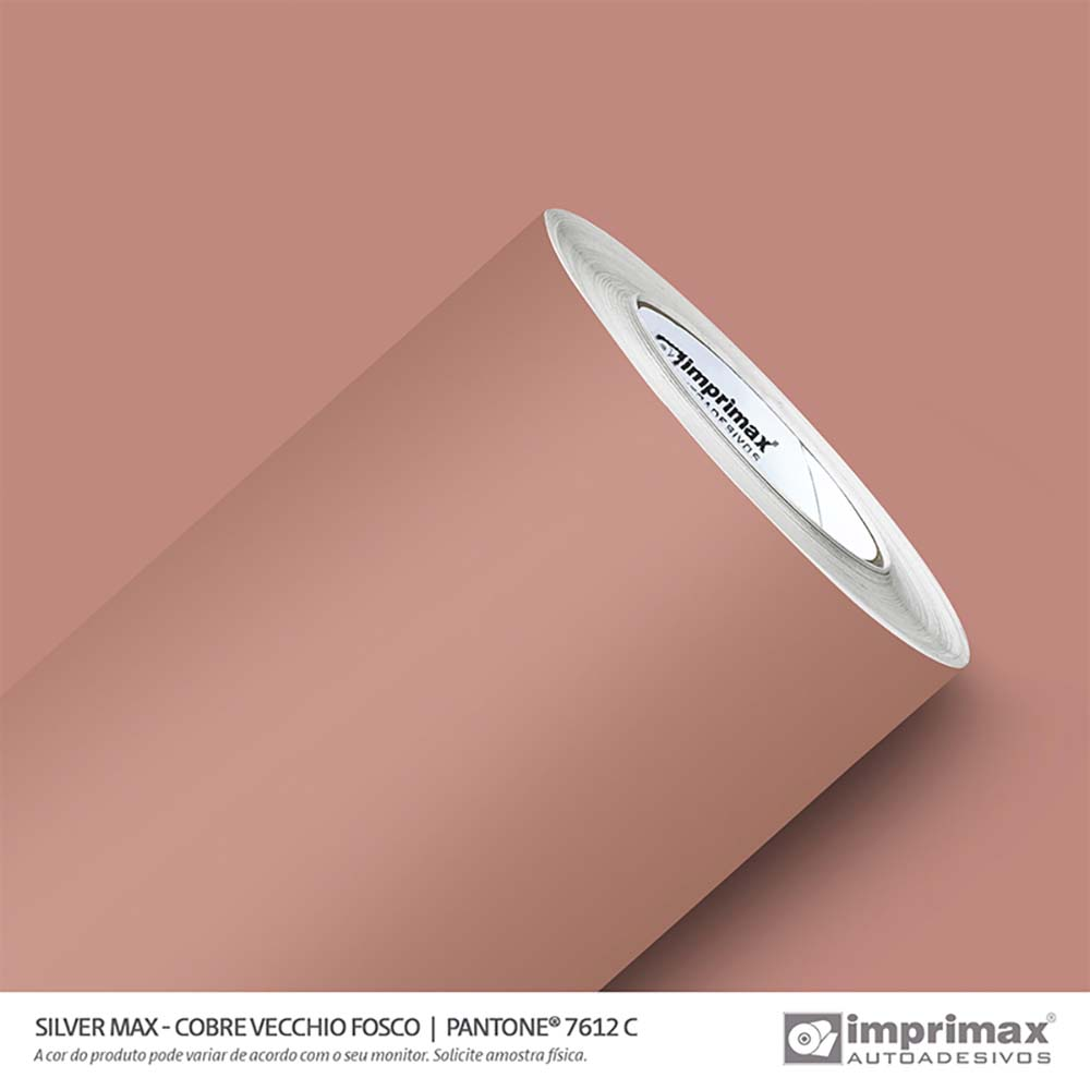 Vinil Auto Adesivo Silver Max Cobre Vecchio Fosco 1,22x50m