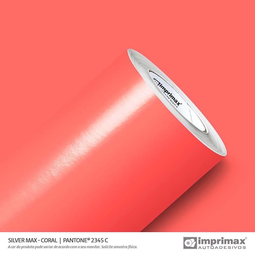 Vinil Auto Adesivo Silver Max Coral Brilho 1,22x50m