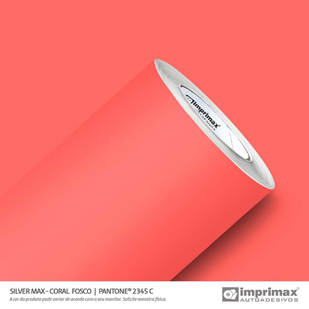Vinil Auto Adesivo Silver Max Coral Fosco 1,22x50m