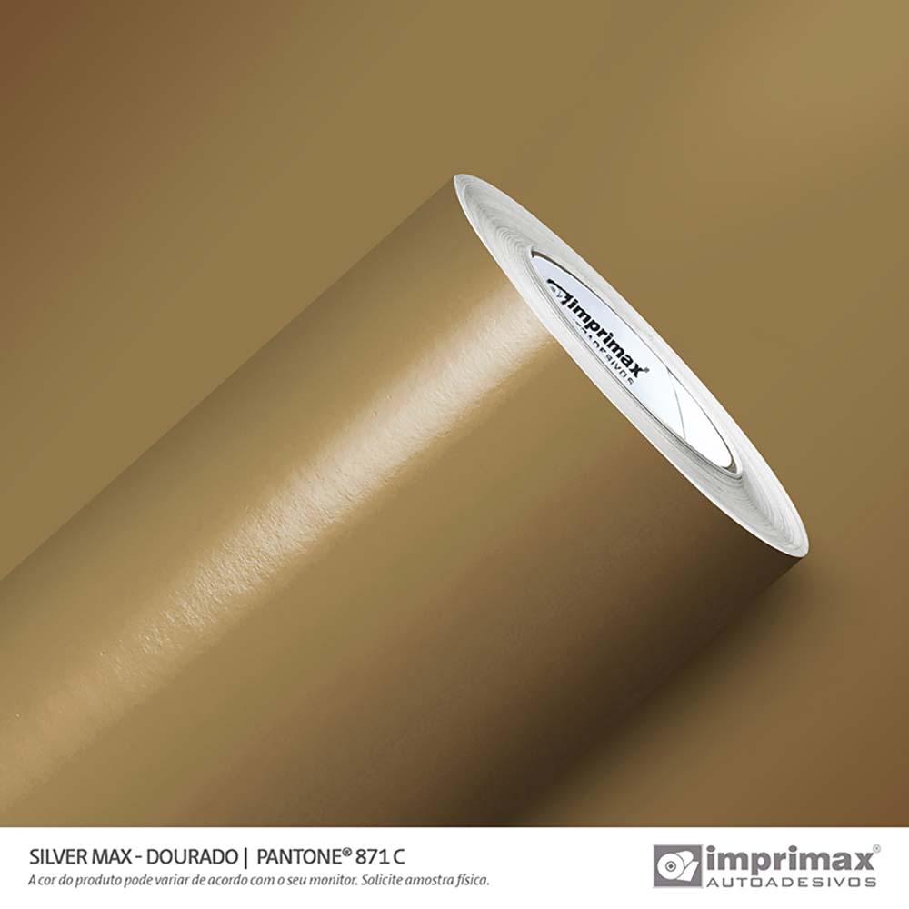 Vinil Auto Adesivo Silver Max Dourado Brilho 1,22x50m