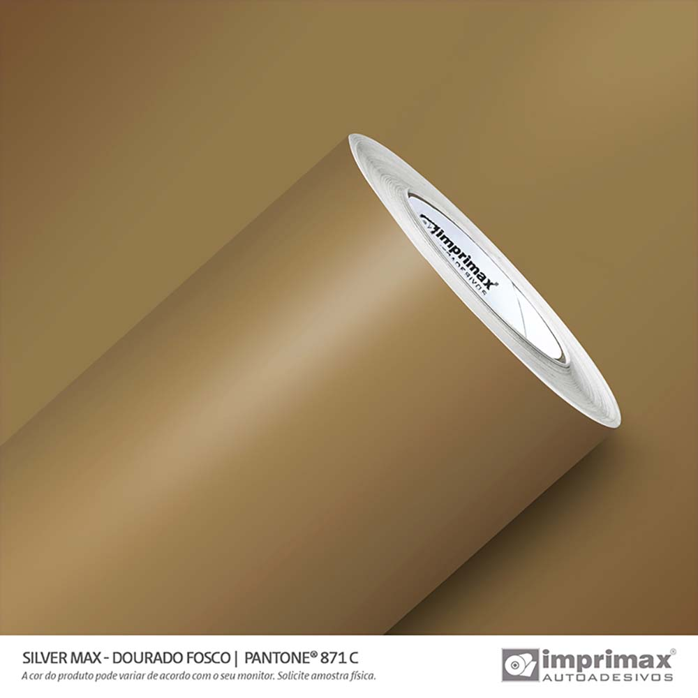 Vinil Auto Adesivo Silver Max Dourado Fosco 1,22x50m