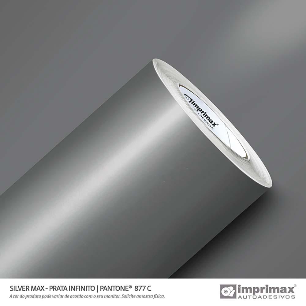 Vinil Auto Adesivo Silver Max Prata Infinito Brilho 1,22x50m
