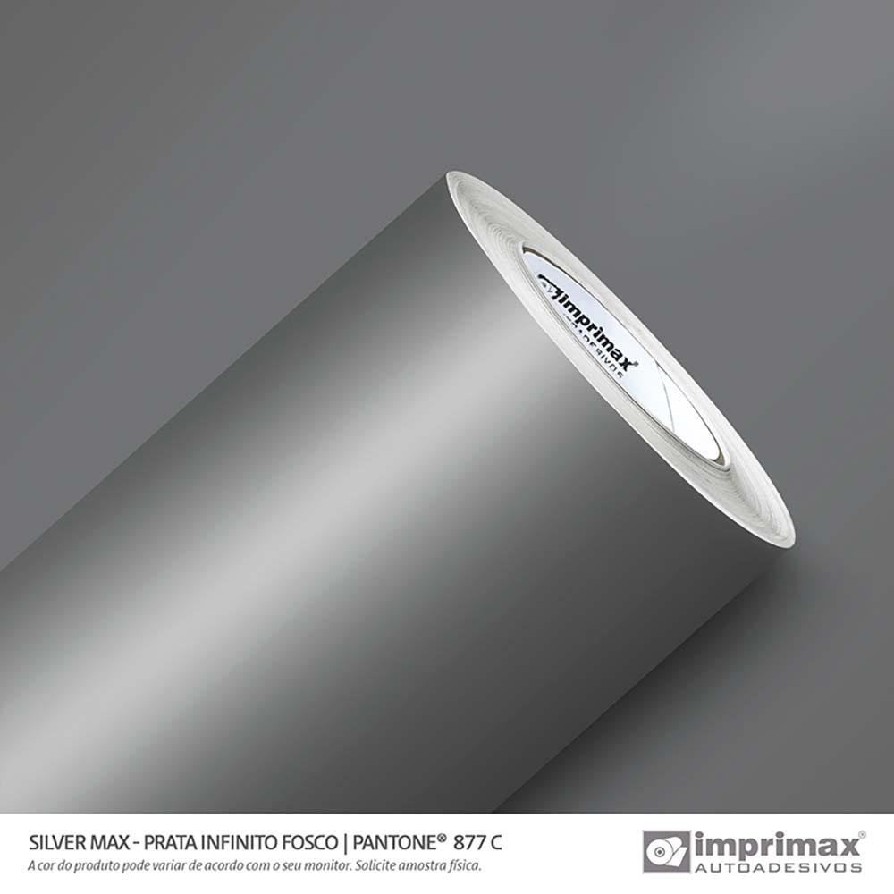 Vinil Auto Adesivo Silver Max Prata Infinito Fosco 1,22x50m