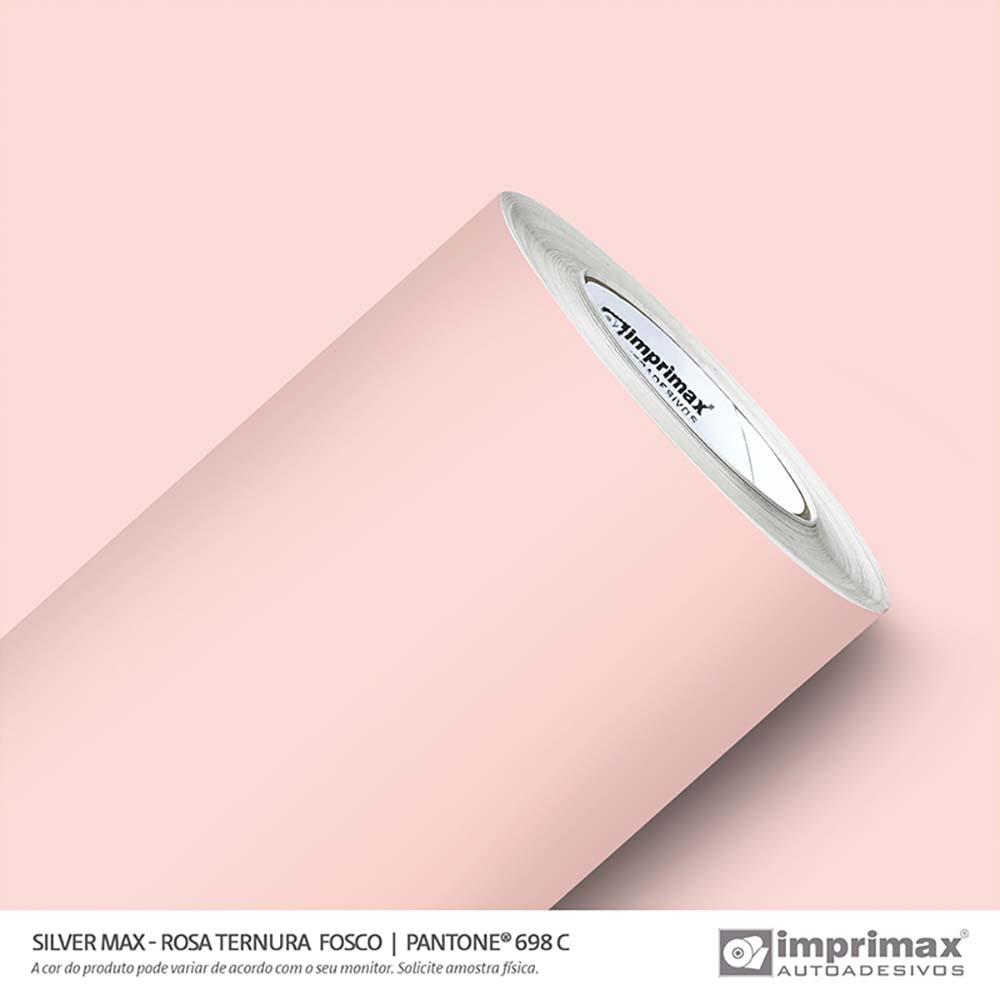 Vinil Auto Adesivo Silver Max Rosa Ternura Fosco 1,22x50m