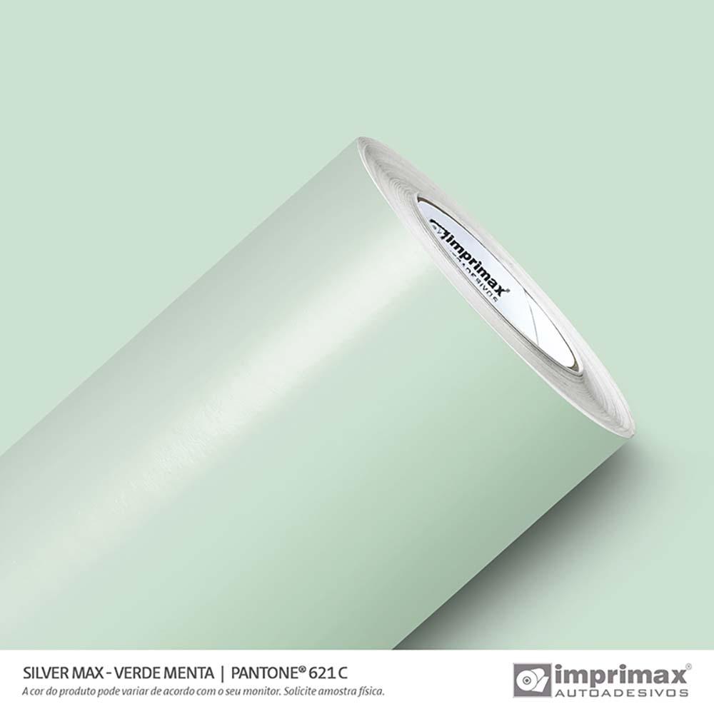 Vinil Auto Adesivo Silver Max Verde Menta Brilho 1,22x50m