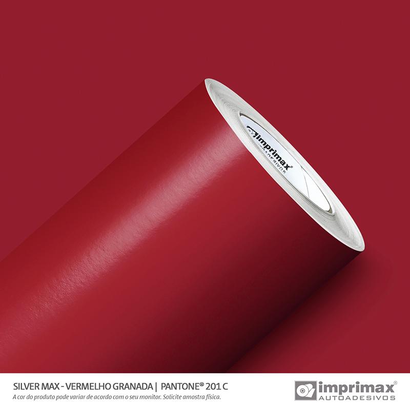 Vinil Auto Adesivo Silver Max Vermelho Granada Brilho 1,22x50m