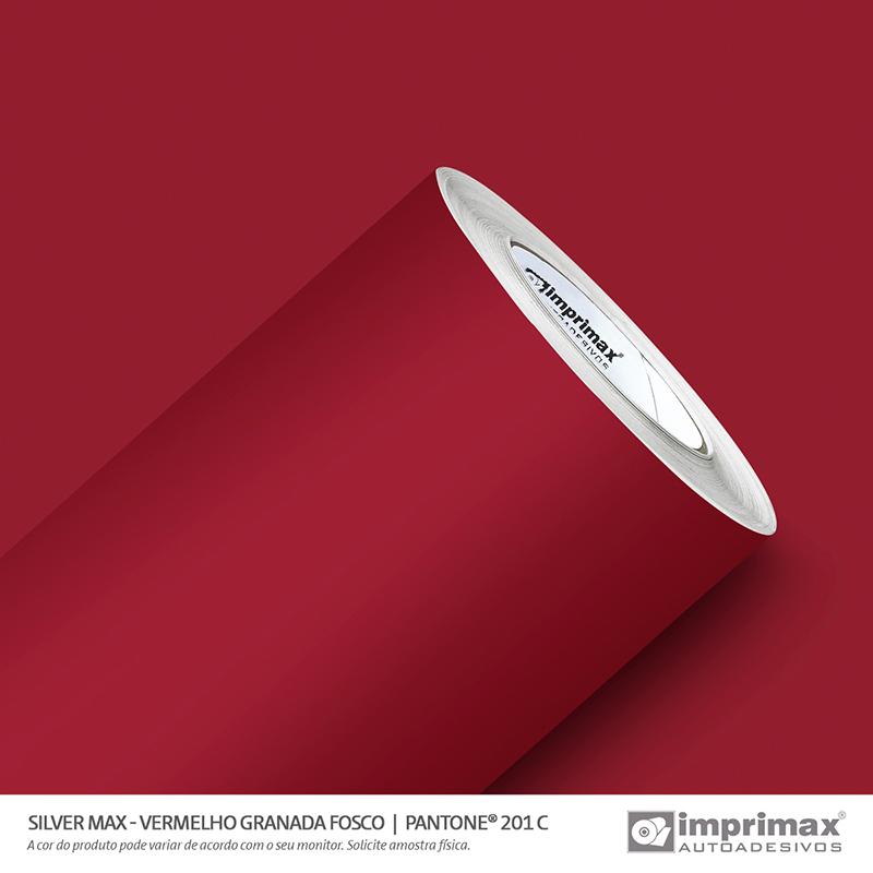 Vinil Auto Adesivo Silver Max Vermelho Granada Fosco 1,22x50m