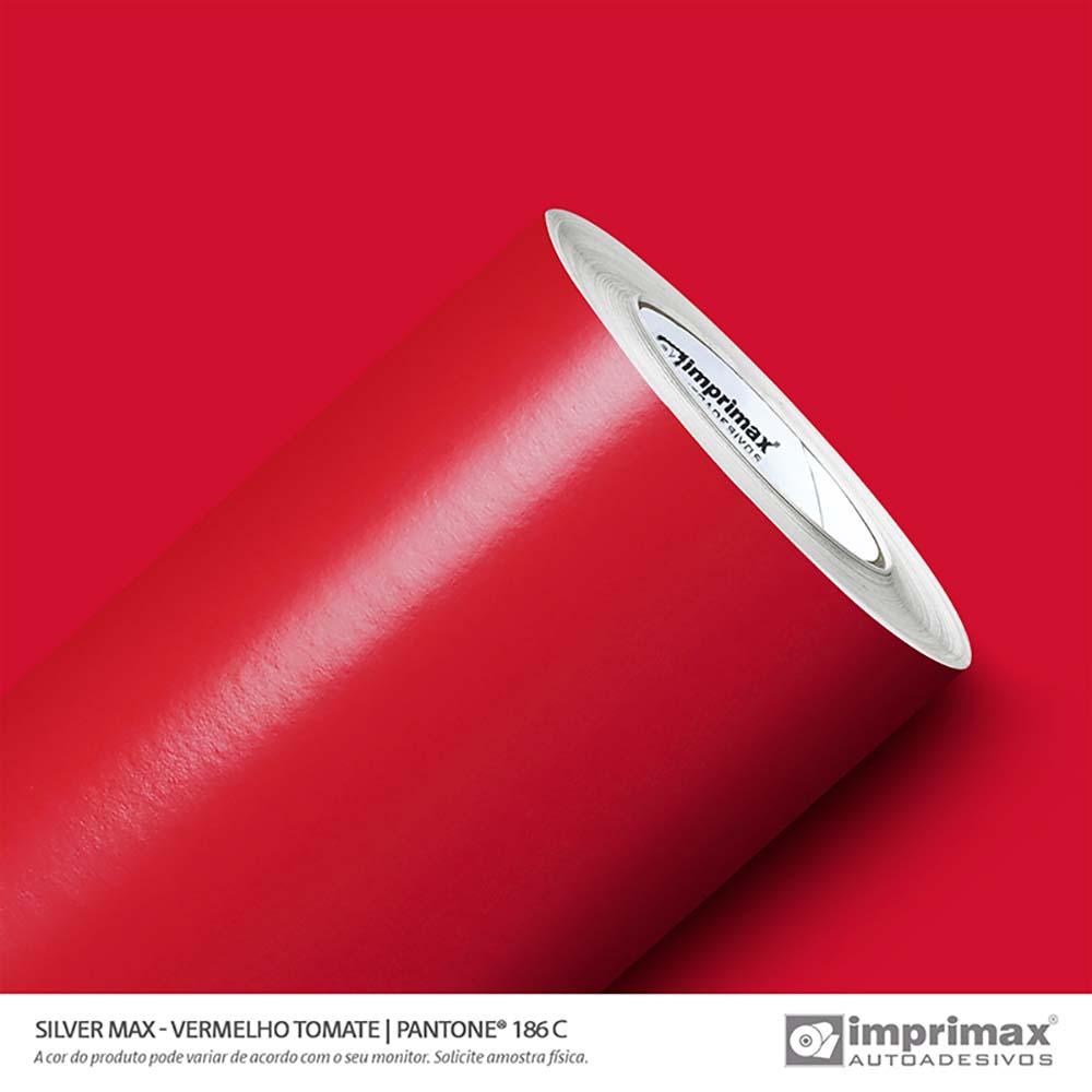 Vinil Auto Adesivo Silver Max Vermelho Tomate Brilho 1,22x50m