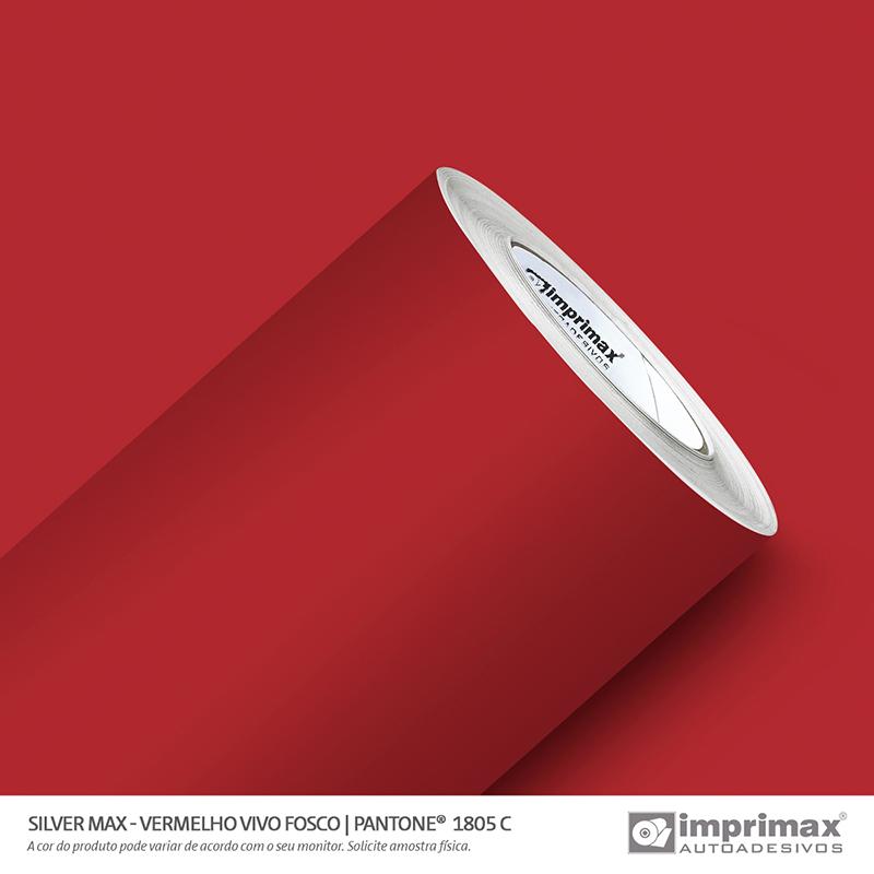 Vinil Auto Adesivo Silver Max Vermelho Vivo Fosco 1,22x50m