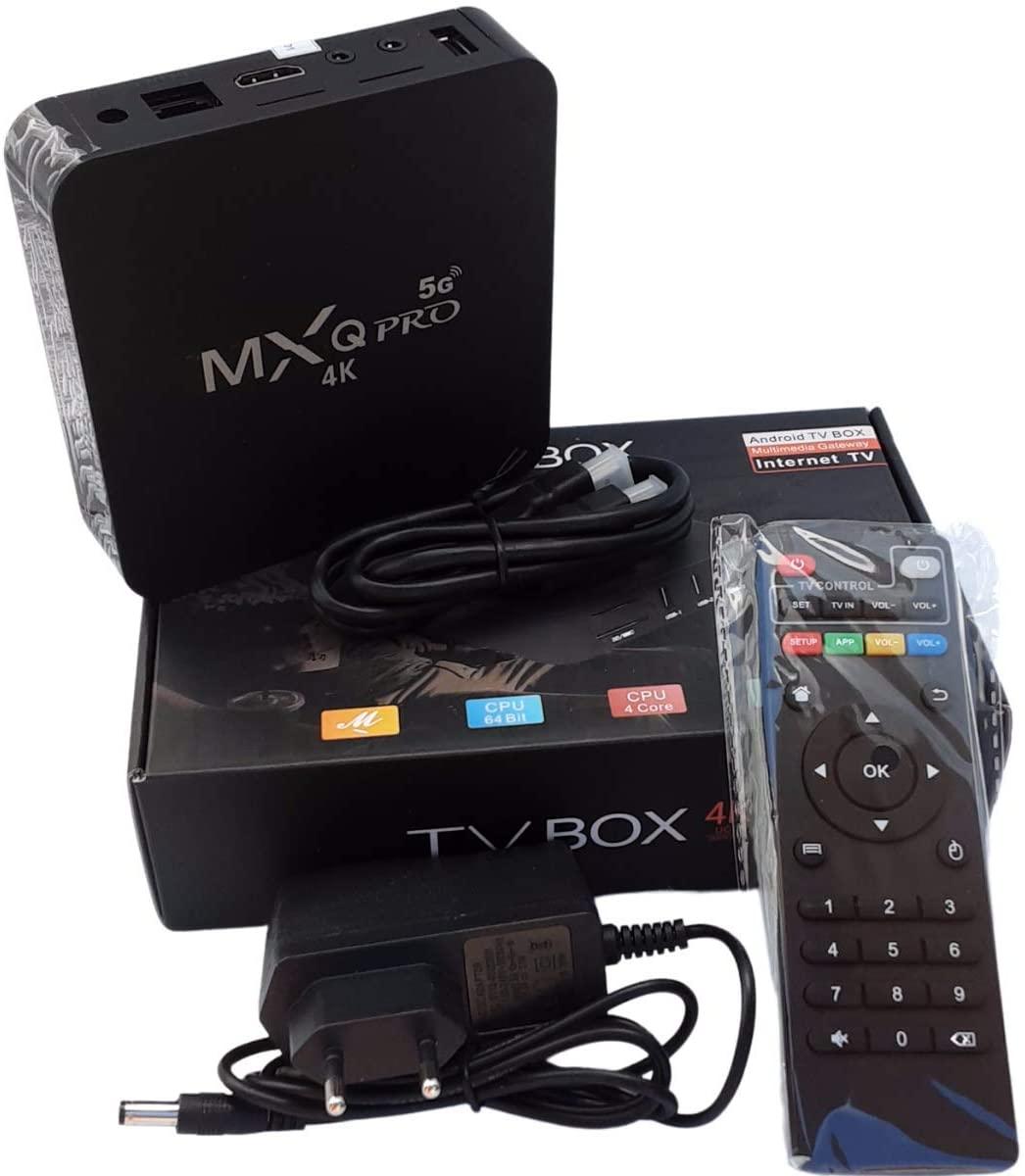 Android TV 128GB Memória interna MXQ 5G - 4k + NF