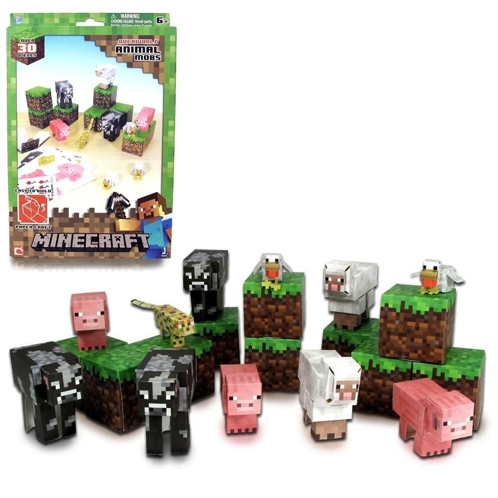 Brinquedo Minecraft Animal MOBS ITENS Montaveis Multikids BR147