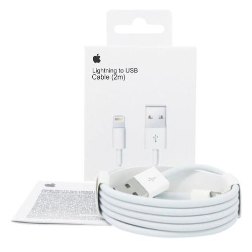 Cabo carregador Lightning para USB Apple iPhone iPad iPod 2m