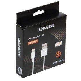 Cabo USB Lightning Lelong MAX-0305 de 1M para Apple IOS Iphone 5, Iphone 6, Iphone 7, Iphone 8 e Iphone X