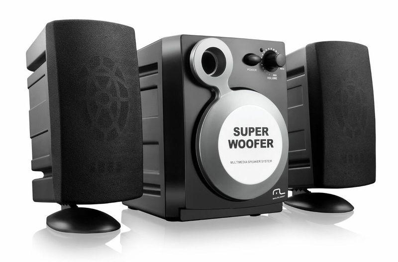 Caixa de Som 2.1 Subwoofer 5W RMS - Multilaser SP080