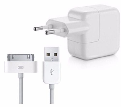 Carregador 10W e Cabo USB 30 Pinos para Apple Iphone 3, 4, Ipad e Ipod