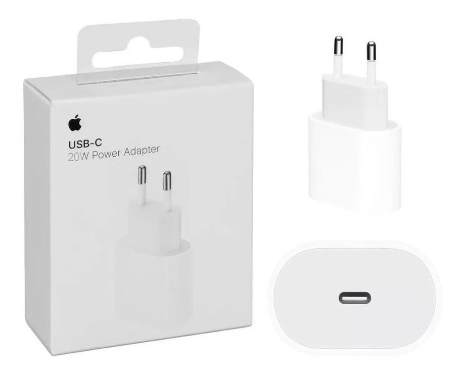 Carregador 20W Iphone X Xr Xs 11 12 Pro Max Usb-C Ipad Apple