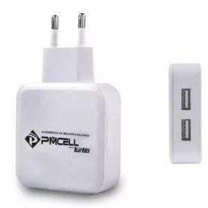 Carregador Fonte Pmcell Turbo 779 com 2 USB 3.5A Branco