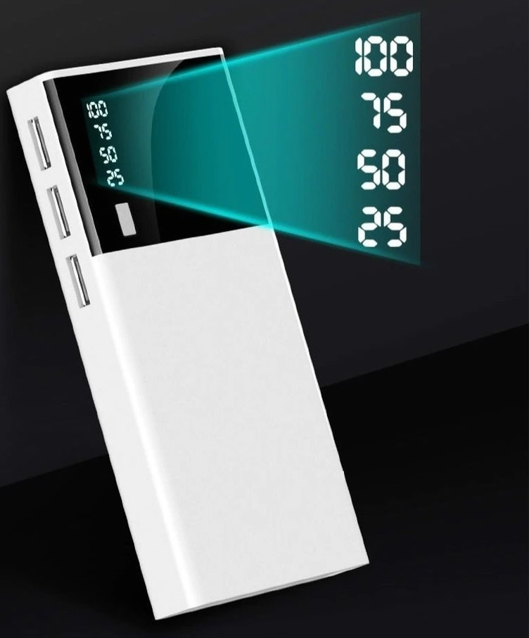 Carregador Portátil Inova POW-8317 10.000mAh Power Bank Lanterna, visor, 3 saídas + cabo Micro USB