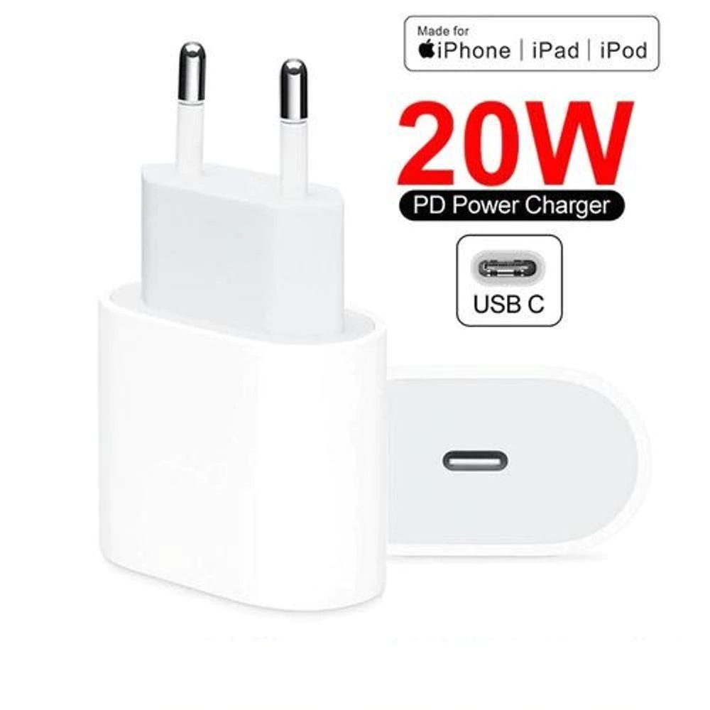 Carregador Rápido Turbo Íphone USB-C de 20w Apple