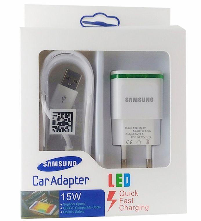 Carregador Samsung Led Turbo Quick Fast Charging para linha Galaxy