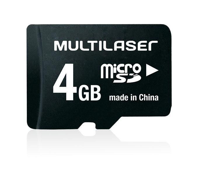 Cartão de Memória Micro SD 4 GB MULTILASER - MC456