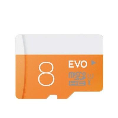 Cartão de Memória Micro sd 8GB com adaptador Classe 10 - EVO