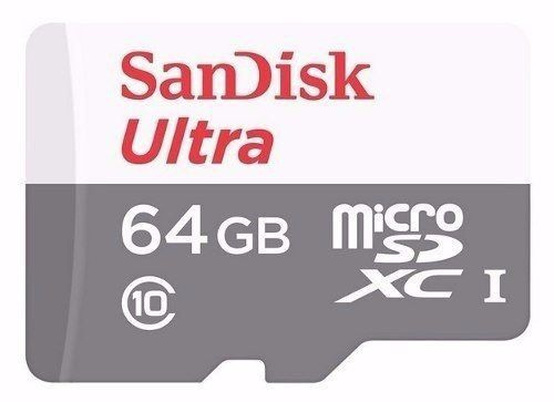 Cartão de memória Micro SD Sandisk Ultra 64GB Classe 10 SDSQUNS-064G-GN3MA