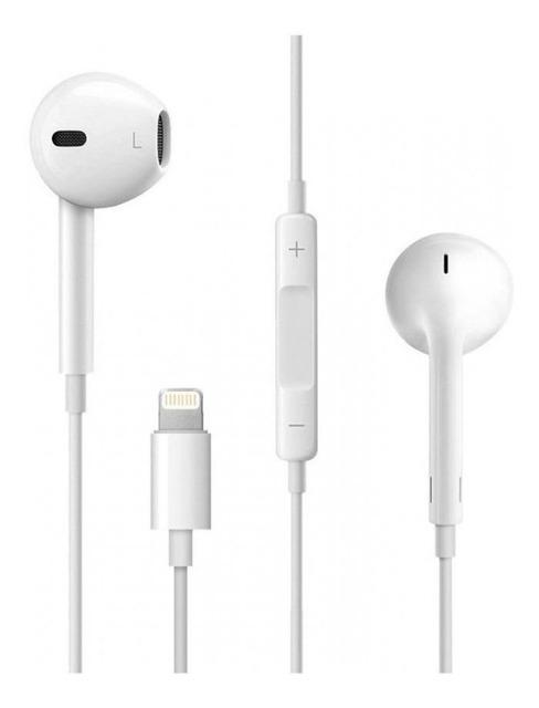 Fone de Ouvido EarPods com Fio Lightning para iPhone 7, iPhone 8, iPhone X e ipad