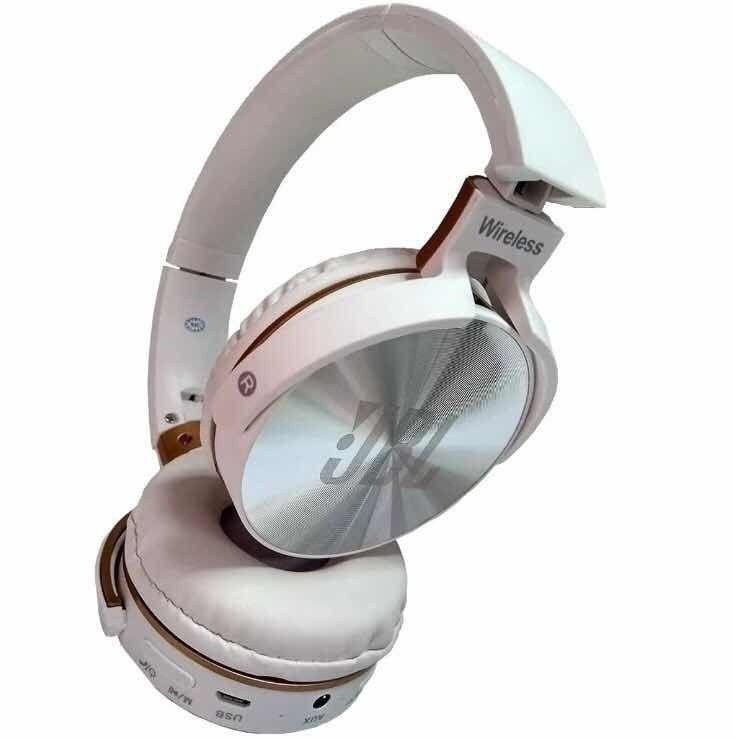 Fone De Ouvido EVEREST JBL JB950 Headphone Wireless FM e MP3 - Branco