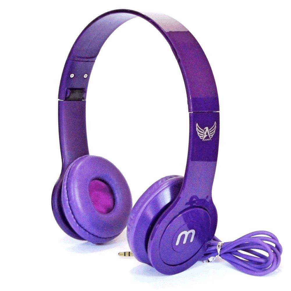 Fone De Ouvido Headphone M Ltomex A-888  - Púrpura