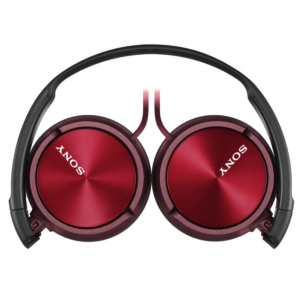 Fone de Ouvido Headphone Sony MDR-ZX320 Com EXTRA BASS Vermelho
