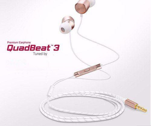Fone De Ouvido LG Quadbeat 3 Earphone Premium Dourado