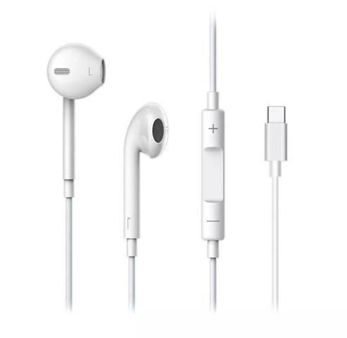 Fone De Ouvido Stereo Earpods Tipo C para Xiaomi MI 8, MI 9, SE